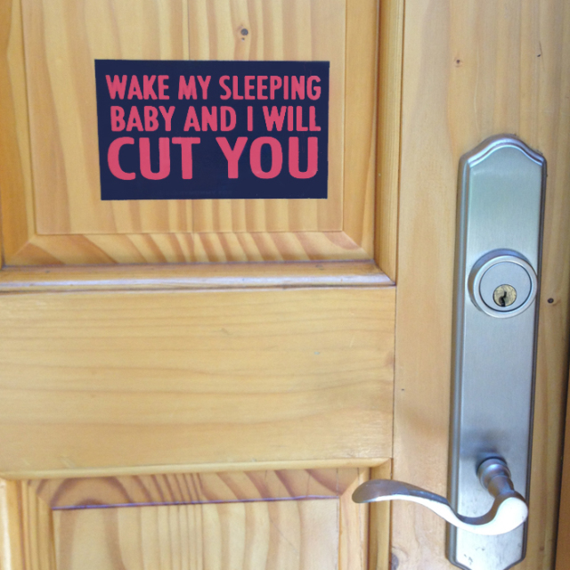 Scary Mommy Will Cut You Doorbell Sticker