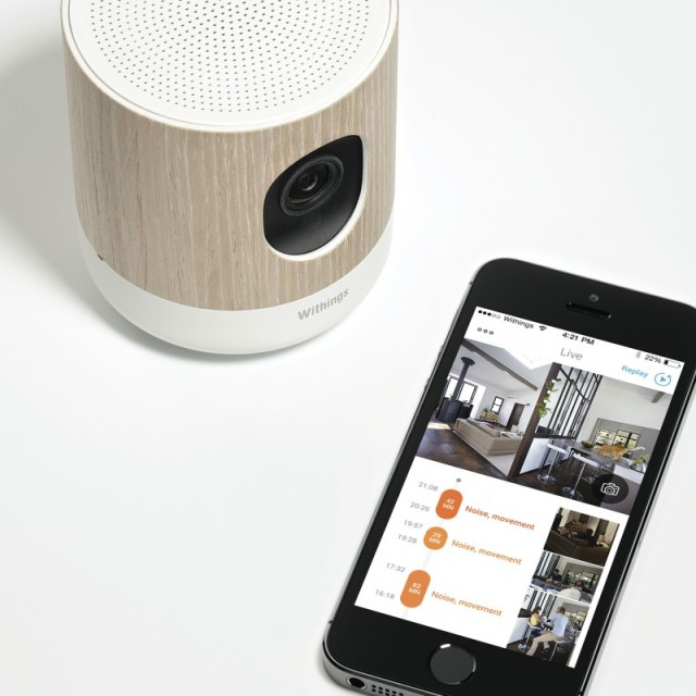 Withings Home HD camera with environmental sensors