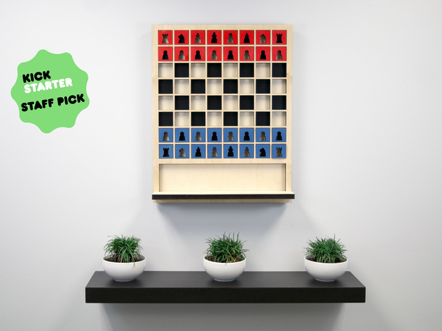 Mate: The Wall Hanging Chess Board by Sean Connell
