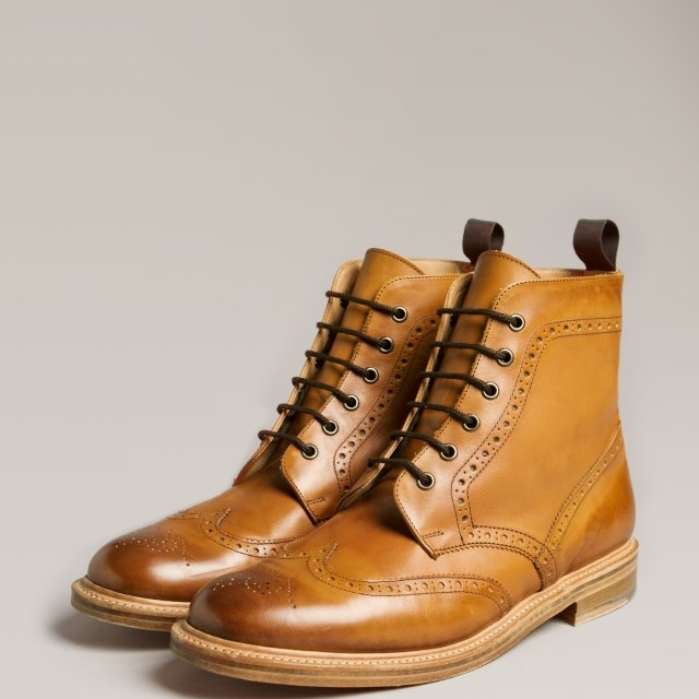 The Redwick Leather Brogue Boot for Men
