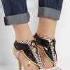 Leilou glitter finished leather sandals