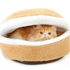 Windproof Cat Bed House Shell Nest Kitten Litter Thermal Hiding