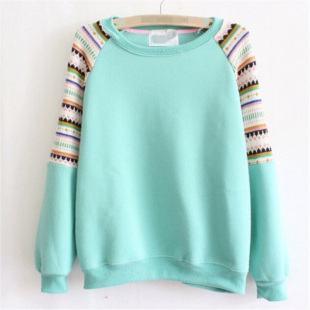 Women's embroidered Knitted Fleece Sweater