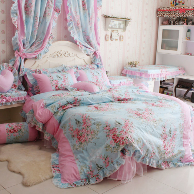 Romantic Rose Print Bedding Sets