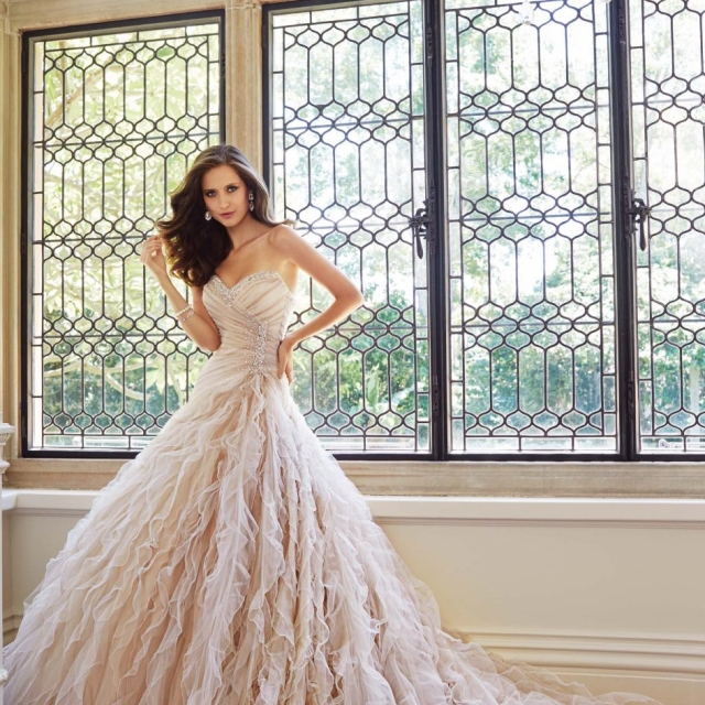 Strapless Sweetheart Gown by Sophia Tolli