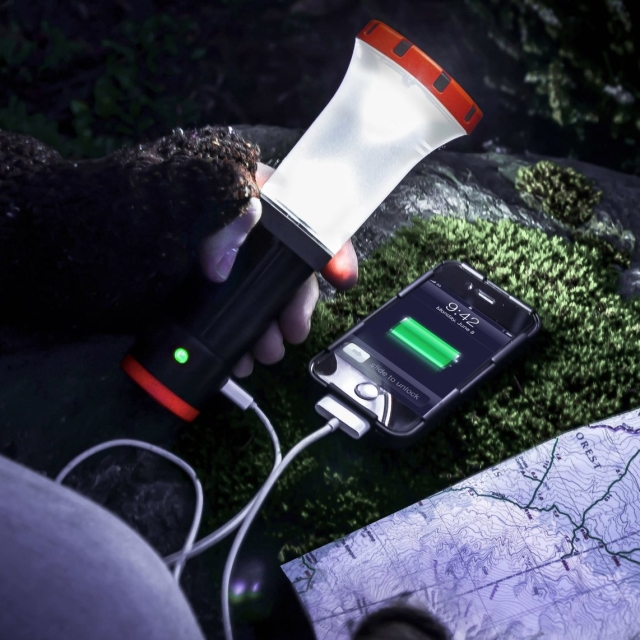 LED Flashlight Lantern and Portable Charging Station for USB Devices